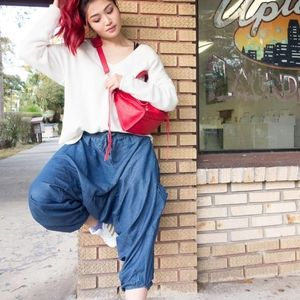 Jean Buddha Pants / Harem Pants